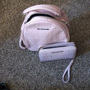 Madden backpack and wristlet wallet
